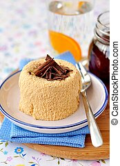 Caramel Quark Dessert - Dulche de leche quark dessert with...