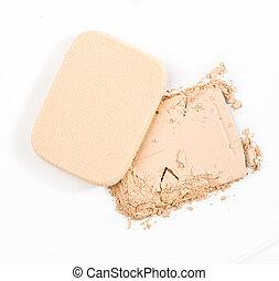 powder - make-up powder on white background