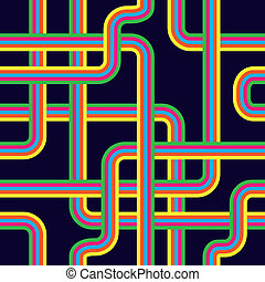 pipeline seamless pattern - illustration of colors pipe...