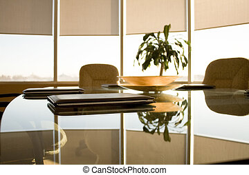 A view in conference room - A view in meeting room in the...