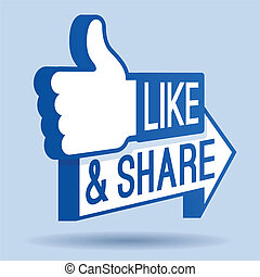 Like and Share Thumbs Up Symbol - Like and Sha