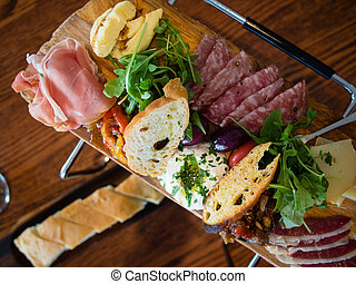 Antipasto - Plate of antipasto for lunch