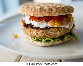 Texan burger - Texan style chicken burger