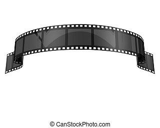 Black Film Banner - Black Film banner on white background