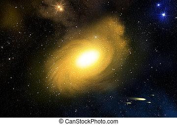 Galaxy and nebula