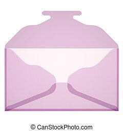 Plastic envelope. 3d rendering on white background