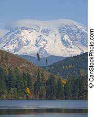 Mt Rainer - A picture of Mt Rainer from across Mineral Lake...