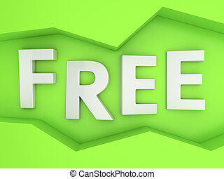 Free on green - Three-dimensional word Free in the zig-zag...