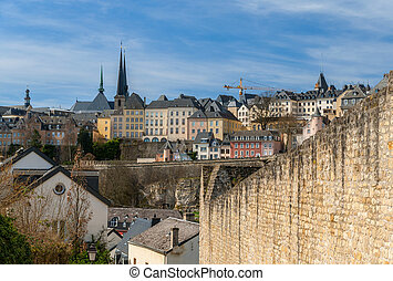 View of Luxembourg city - Luxembourg