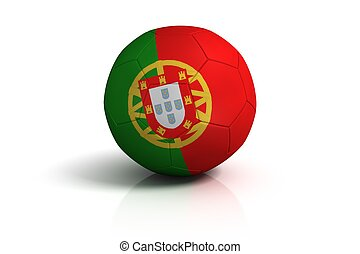 Portugal football on white Background
