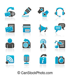 Blogging and communication icons