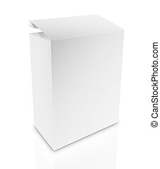 white box on white background with clipping path