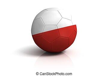 Poland football on white Background