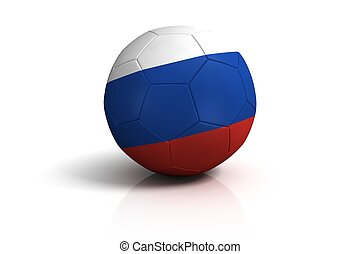 russia football on white Background