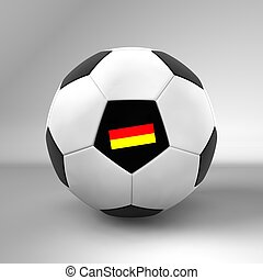 Germany football on white Background