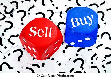 venda, compra, palavra, ou