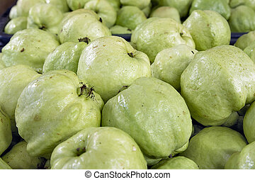 Green Apple Guavas in Southeast Asian Market