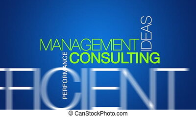 Management Consulting word cloud - Animated Management...