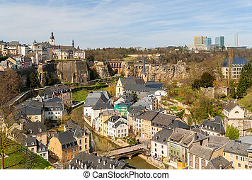 View of Luxembourg historic center