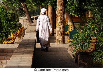 Aswan - Egypt - ASWAN - APRIL 28:Egyptian man on Elephantine...