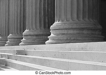colonnes, escalier