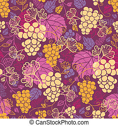 Sweet grape vines seamless pattern background - Vector sweet...