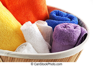 Bath towels - Stock pictures of bath towels and wash clothes