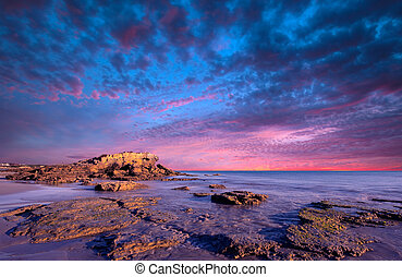 Visions - Gorgeous sunset over rocks