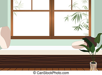 couch beside the window
