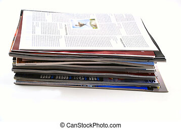 Newspapers and magazines - stock pictures of a stack of...