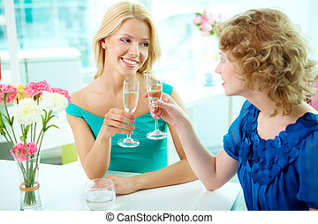 Occasion - Gorgeous girls drinking alcohol on some occasion
