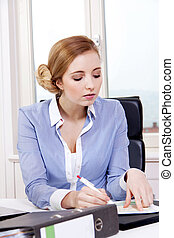 young successful business woman in office