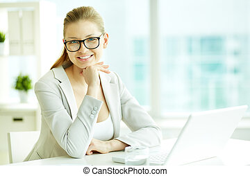 White collar worker - Portrait of successful businesswoman...