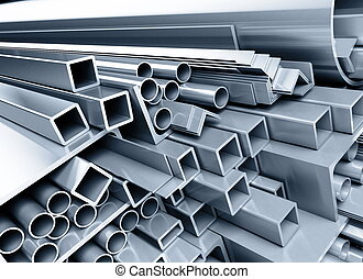 metallic pipes, corners, types - background metallic pipes,...
