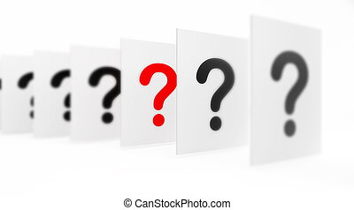 question it is isolated on a white background