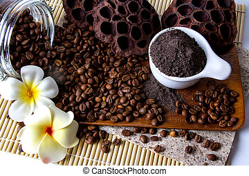 Coffee Scrub - Coffee skin scrub for spa.
