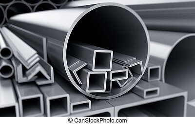 metallic pipes - background metallic pipes, corners, types