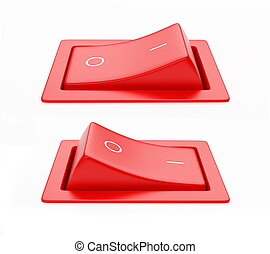 switch red - switch on a white background
