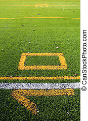American football yard - Numbers and lines on an american...