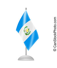 The Guatemala flag. Table Flag. Isolated on white.