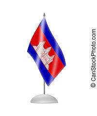 de, Cambodian, vlag