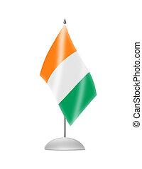 The Republic of Ivory Coast flag