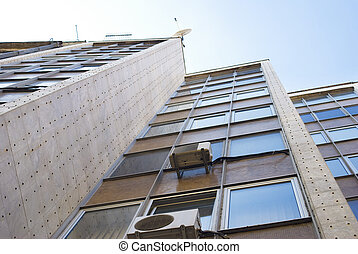 Corporate building - Office building of modern city against...
