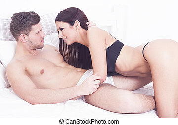 Sexy heterosexual couple