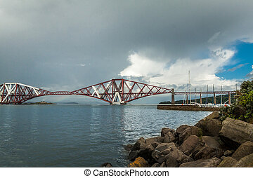 The Forth Bridge, South Queensferry near Edinburgh, Scotland
