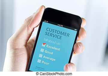 excelente, cliente, servicio, Apoyo