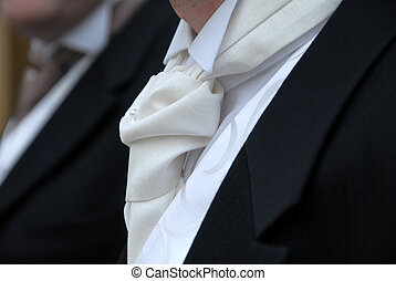 Grooms cravat - Close up of a cravat