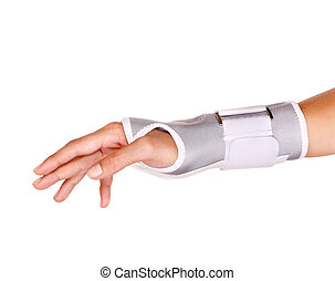 Trauma of wrist in brace Isolated