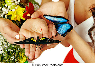 Butterfly on hand.