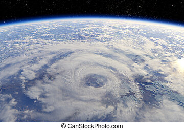 Cyclone view from orbit